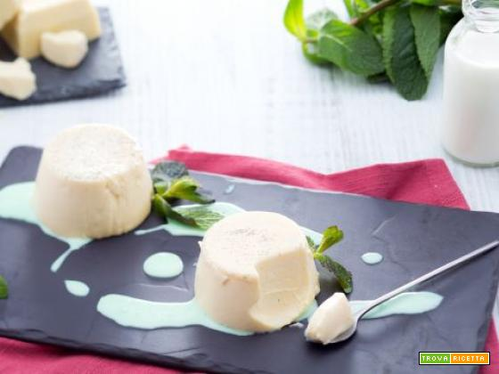 Bavarese al cioccolato bianco e salsa alla menta