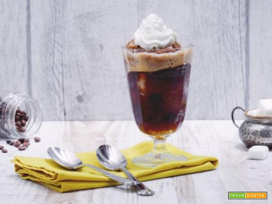 Granita al caffè con panna