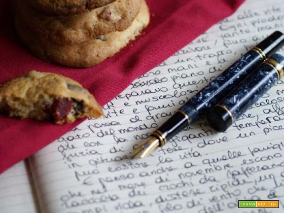 Cookies alla fragola, doppio cioccolato e macadamia...e scrivere