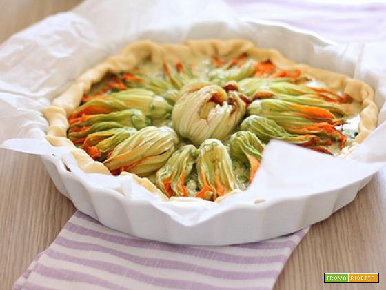 Quiche ai fiori di zucca e formaggi & saluti