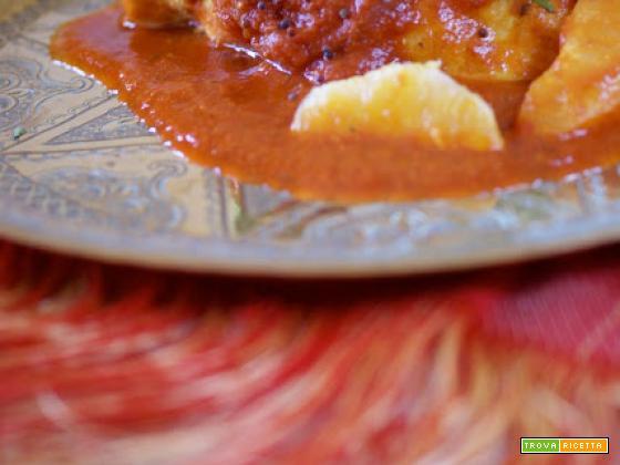 Pollo speziato al pomodoro e all'arancia...ispirazione indiana