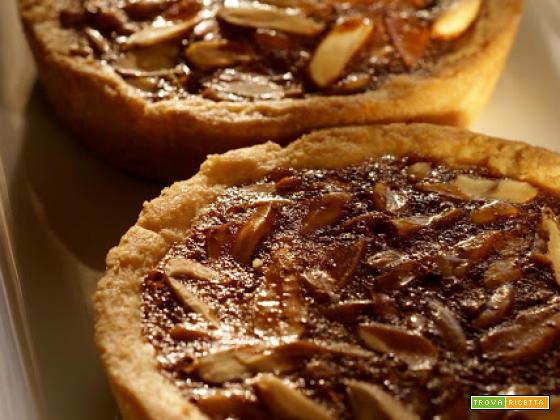 Tartelettes (crostatine) di mandorle con caramello al miele...magia!