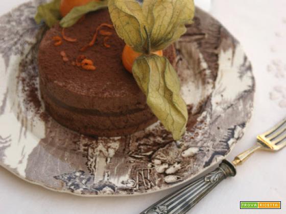 Entremets chocolat et clémentines