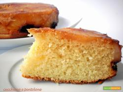 torta rovesciata all'ananas, mascarpone e cocco