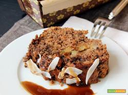 cake alle banane, cocco e cioccolato con caramello al muscovado