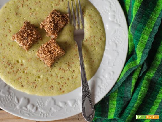Bocconcini di spada al sesamo su zabaglione di asparagi alla vaniglia