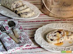 rotolo di dacquoise al torrone e gelato al panettone per l'insolito gelato Loison