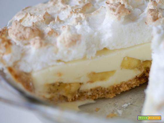 Pie meringato di cocco, banana e marshmallows, frutto di una snervante attesa