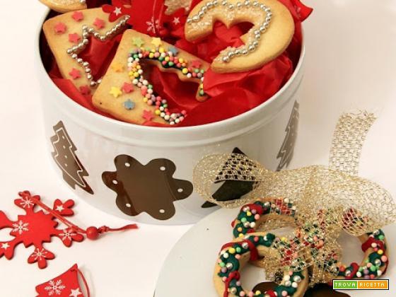 idee per natale, biscotti decorati