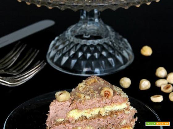 torta alla crema di nocciole e caffè
