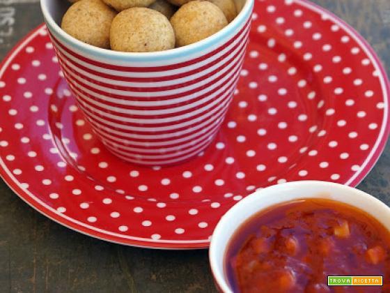 Boule speziate di ceci in salsa agrodolce