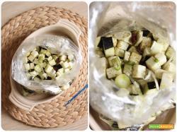Cous cous con melanzane speziate, uvetta e mandorle
