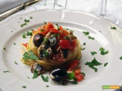 Spaghetti saporiti con le sarde e la provola