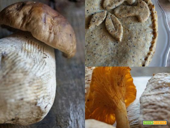Torta cremosa ai funghi