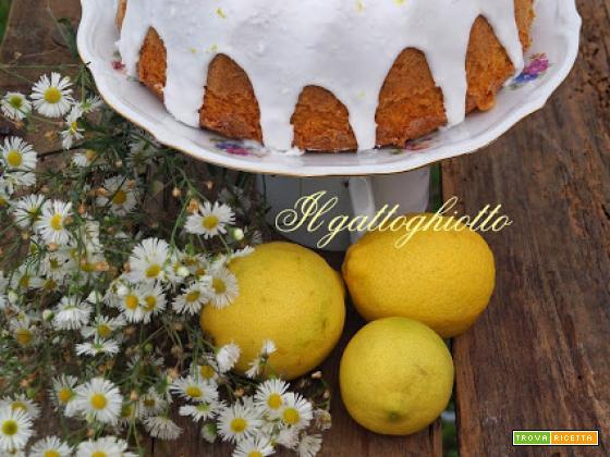 Ciambella glassata cocco e limone