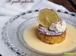 Caprese al cioccolato bianco su crema inglese al limoncello e mousse di ricotta al pepe di Sichuan (gluten free)