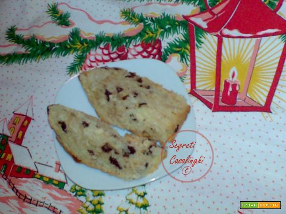 panettoncino natalizio con gocce di cioccolato
