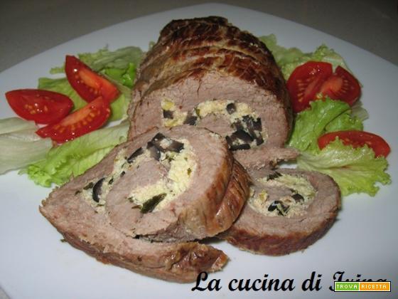 Rollè di vitello alla ricotta e olive