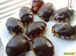 briosches con copertura al cioccolato fondente