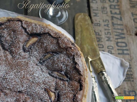 Crostata pere, cioccolato e mandorle