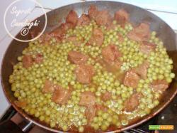 ricetta spezzatino di carne con piselli