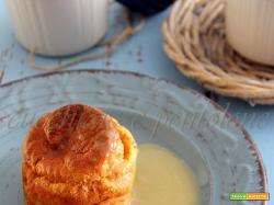 soufflè all'aringa e patate con salsa di porri e lemongrass