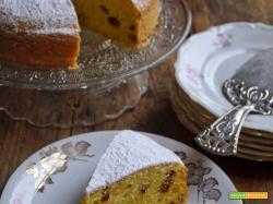 Torta con semolino e bacche di Goji al profumo di arancia