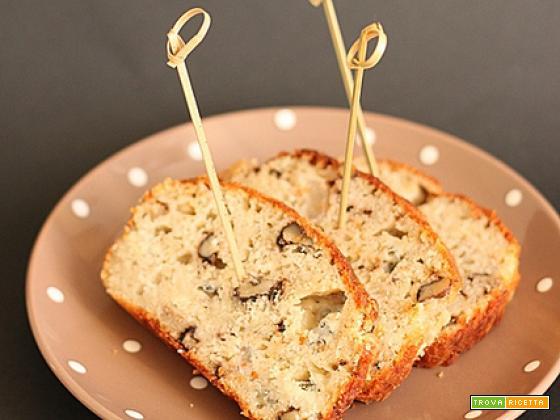 Cake al gorgonzola, pere e noci: benritrovati!