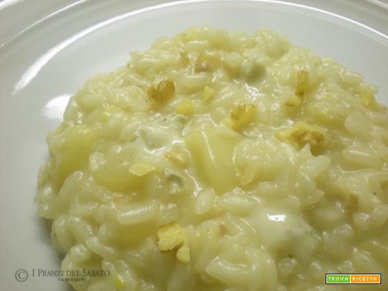 Risotto pere noci e gorgonzola