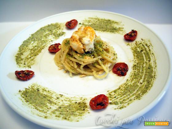 Spaghetti quadrati al Salmone e Mediterraneo
