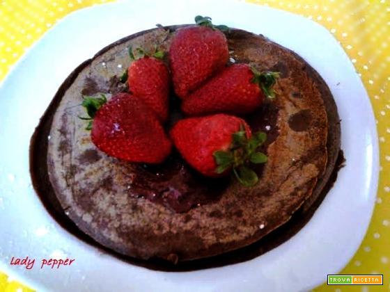 Pancakes al cioccolato senza lievito