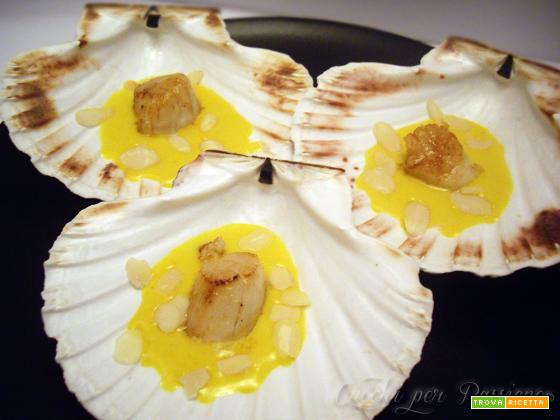 Capesante alla piastra con Salsa allo Zafferano