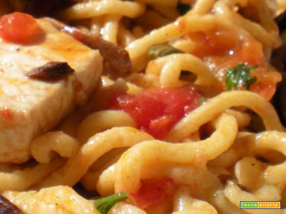 Bimby, Spaghetti alla Chitarra con Pesce Spada