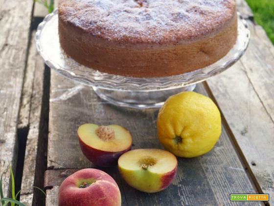 Torta soffice pesche e limone