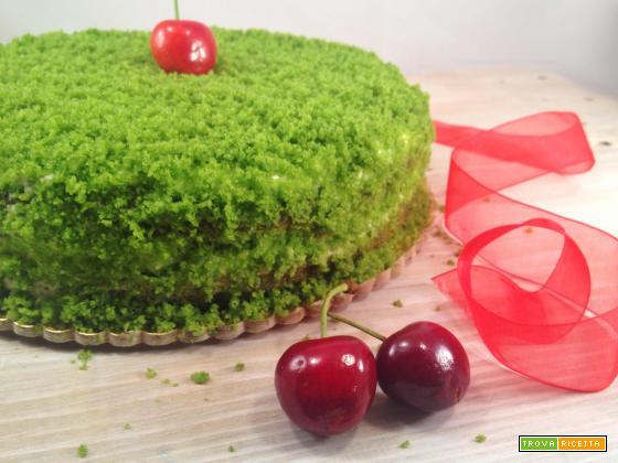 La green cake con le amarene e l' ingrediente segreto