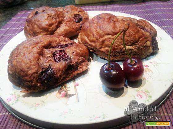 Brioche cioccolato e ciliegie