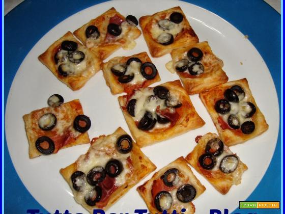 CUCINA - ANTIPASTO & SNACK - MINI PIZZETTE DI PASTA SFOGLIA (fast & tasty)