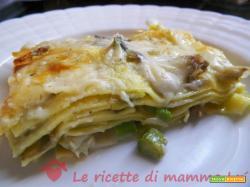 Lasagne asparagi e carciofi