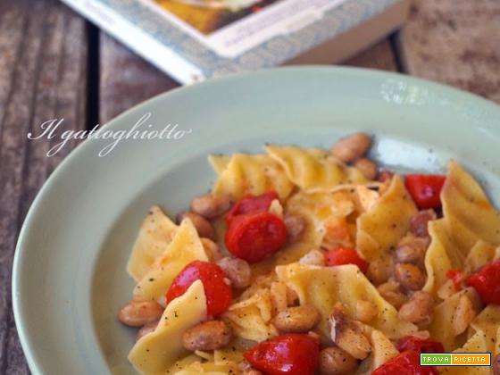 Maltagliati con fagioli, baccalà e pomodorini datterini