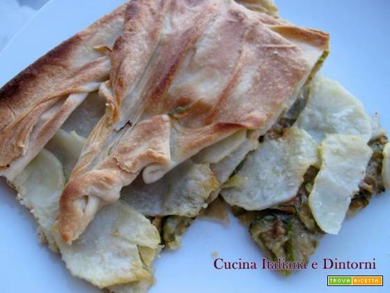 Torta salata di zucchini e patate