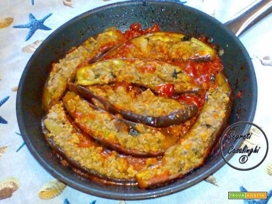melanzane farcite carne tritata