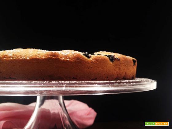 Torta ai mirtilli, cocco e lime