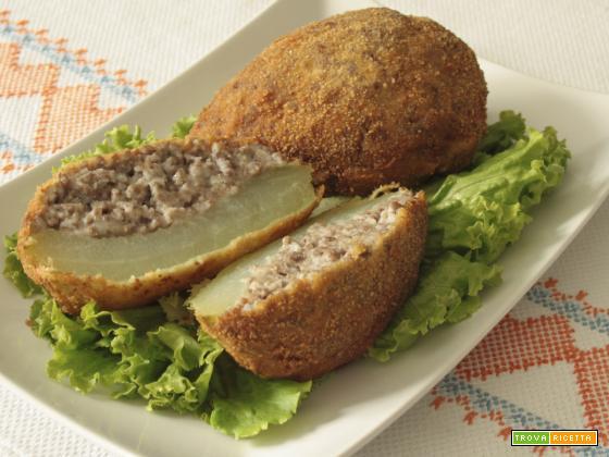 Chayote ripieno di carne (Chuchu recheado com carne)