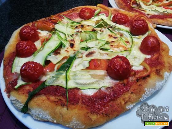 Pizza alle verdure con grano saraceno