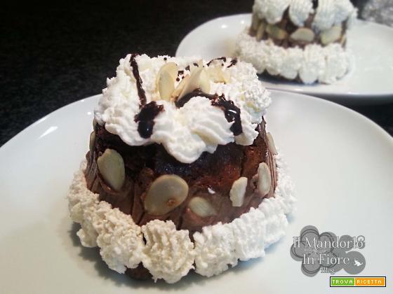 Semifreddo cioccolato ricotta e mandorle