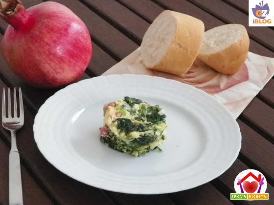 Frittata con spinaci