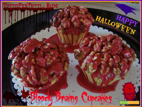 BLOODY BRAINS CUPCAKES - Speciale Haloween