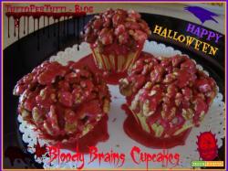 BLOODY BRAINS CUPCAKES - Speciale Haloween