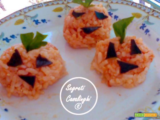 zucche riso halloween