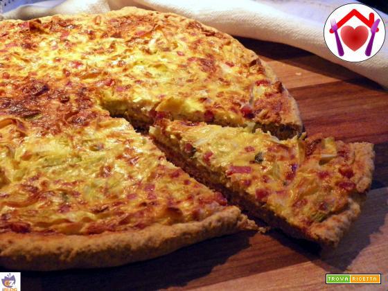 Pizza rustica ai porri